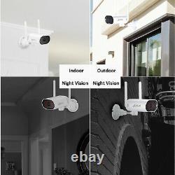 Anran Wifi Caméra De Sécurité Sans Fil Cctv 1080p Kits Dvr Extérieurs 4ch/8ch