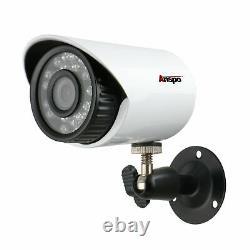 Anspo 8ch Cctv Security Camera System Ahd Dvr Waterproof Ir Night Vision Ip Cam