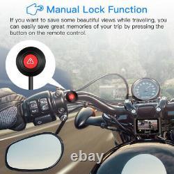 Avant + Arrière Hd 1080p Wifi Gps Motorcycle Bike Dash Cam Camera Dvr Vision Nocturne