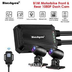Blueskysea B1m Ip67 Nt96663 2 Canaux 1080p Moto Wifi Cam Cam Caméra