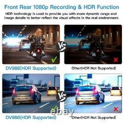Blueskysea Dv988 4 Ip67 Dual Lens Avant Et Arrière Moto Wifi Cam Cam