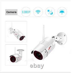 Caméra De Sécurité Cctv 1080p Hd 8ch Nvr Hdmi 2.0mp Cams 2way Audio Daynight