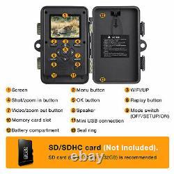 Campark Trail Caméra Wifi Bluetooth Jeux De Chasse 20mp Cam Nightvision Imperméable