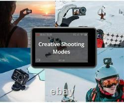 Dji Osmo 4k Action Cam 12mp Caméra Numérique Avec 2 Écrans 36 Pieds Sous L'eau, Noir