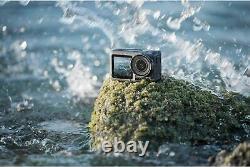 Dji Osmo Action Cam Digital Camera Bundle Waterproof 4k Hdr + Carte Microsd De 128 Go