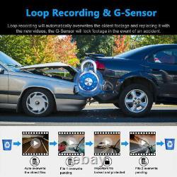 Dual Lens Car Dvr 4k 2160p Sony Capteur Wifi Gps Logger 2 Caméra Vidéo Dash Cam