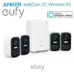 Eufy Security Smart Wireless System Eufycam 2c 1080p Caméra Batterie Avecalexa Ip67