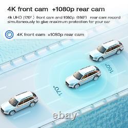 Gps 4k 12mirror Dashcam Backup Camera Car Dvr Enregistreur Voicecontrol Nightvision