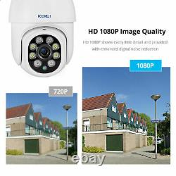 Hd 1080p Ip Camera Extérieur Wifi Ptz Cctv Security Wireless Smart Home Ir Cam