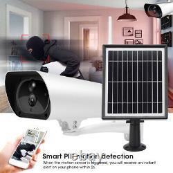 Hd 1080p Outdoor Sans Fil Solar Powered Ip Caméra Wifi Sécurité Night Vision Cam