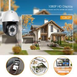 Kerui Wifi Ip Caméra De Sécurité Sans Fil Étanche 1080p Smart Ptz Outdoor Cam