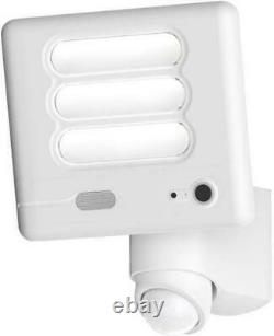 Lutec Esa Secury'light 6255-cam Wi-fi Led Security Light With Camera In White