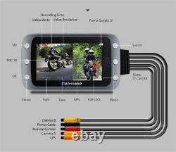 Moto Scooter Dvr Dash Cam Wifi 1080p Fhd Avec Caméra Avant Et Arrière Étanche