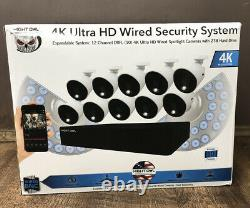 Night Owl Cl-d8p12-210l 4k 12-chan 1080p 2tb Hdd Security System 10 Cam Nouveau! Cr