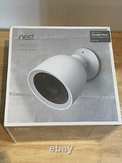 Nouveau! Scellé! Caméra De Sécurité Intelligente Extérieure Google Nest Cam Iq