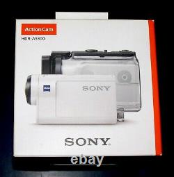 Nouveau Sony Action Cam Hdr-as300 Hd Waterproof White Video Camera Monopod Camcorder