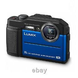Panasonic Dc-ft7eb-a 4k Waterproof Tough Digital Action Cam Camera 20.4mp Bleu