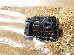 Panasonic Dc-ft7eb-k 4k Waterproof Tough Digital Action Cam Camera 20.4mp, Noir