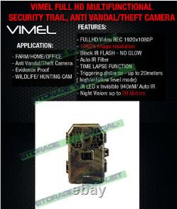 Professional Trail Camera High-end Cam Waterproof Night Vision Motion Activé