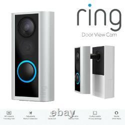 Ring Door View Cam Door Peephole Caméra Hd Vidéo Two-way Talk Cam Bnib