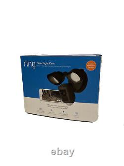 Ring Floodlight Camera Motion Activé Hd Security Cam Two-talk And Siren