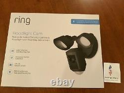 Ring Floodlight Camera Motion-activated Hd Security Cam 2-way Talk, Noir, Alexa