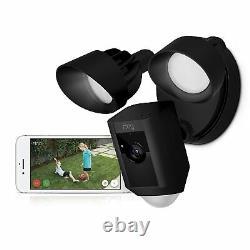 Ring Floodlight Camera Motion-activated Hd Security Cam Alarm, Noir, Alexa