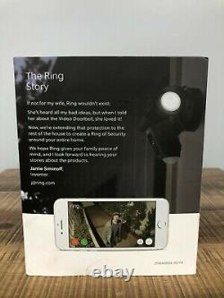 Ring Floodlight Camera Motion-activated Hd Security Cam Two-way Talk Black New