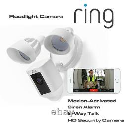 Ring Floodlight Camera Motion-activated Hd Siren Alarm & 2-way Talk Security Cam