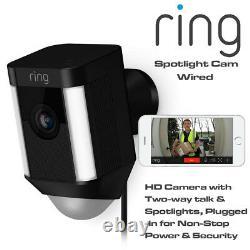 Ring Spotlight Cam Wired Hd Camera Avec Two-way Talk & Spotlights Security Cam