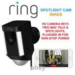 Ring Spotlight Cam Wired Hd Camera Avec Two-way Talk & Spotlights Security Cam B