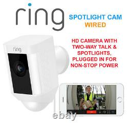 Ring Spotlight Cam Wired Hd Camera Avec Two-way Talk & Spotlights Security Cam W
