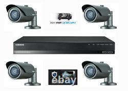 Samsung 2mp Hd 4 Channel 4 Caméra Cctv Home Business Security Kit System 1to Hdd