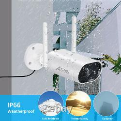 Système De Caméra De Sécurité Hd 8ch 3mp Wireless Outdoor Avec 12 Moniteur Wifi Nvr 1tb
