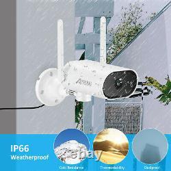 Système De Caméra De Sécurité Wireless Outdoor 3mp 8ch Audio 1tb Hdd 5mp Nvr Pan Rotate