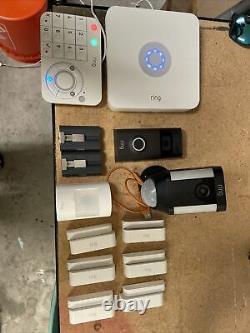 Système De Sécurité De L'anneau 10 Pièces, Bague Doorbell 2, Bague Spotlight, Bague Indoor Cam
