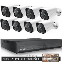 Toguard 8ch 1080p Security Camera System Home Outdoor Wired Dvr Surveillance Cam