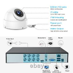 Toguard 8ch 5mp Dvr Security Camera System Hdmi Home Outdoor Night Vision Ip Cam