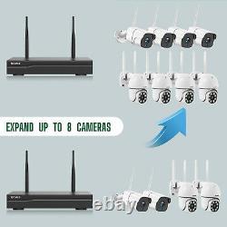 Toguard 8ch Nvr Wifi Système De Caméra De Sécurité 3mp Outdoor Home Cam Ir Night Vision