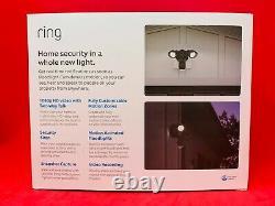Tout Nouveau Mouvement De Caméra Ring Floodlight Activé Sécurité Extérieure Cam- Noir
