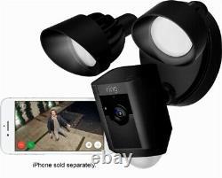 Toute Nouvelle Bague Floodlight Cam Motion Activé Caméra De Sécurité Noir