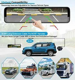 Triple Miroir Dash Cam 12 Avec L'avant Détaché Et Caméra Dans La Voiture, L'arrière Étanche