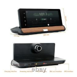 Voiture Cam Dual Dash Camera Driving Recorder Gps Navigation 7 In LCD Android Wifi