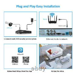 Zoohi Cctv Security System 1080p Extérieur 8ch Wired Home Camera Kit 2to Nvr Hdmi